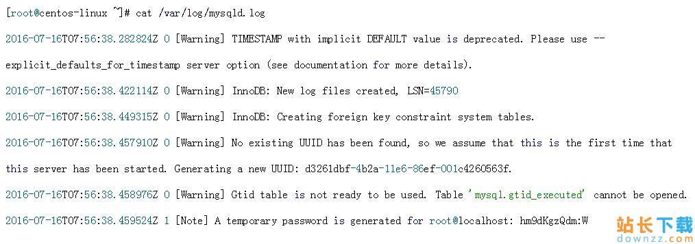 CentOS7下使用RPM<em style='color:red;'>安装</em>mysql5.7.13