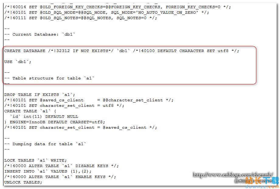 MySQL 数据库使用mysqldump导出数据<em style='color:red;'>详解</em>