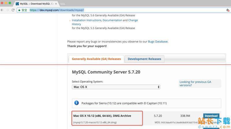 Mac系统下MySql下载MySQL 5.7及详细<em style='color:red;'>安装</em>图解