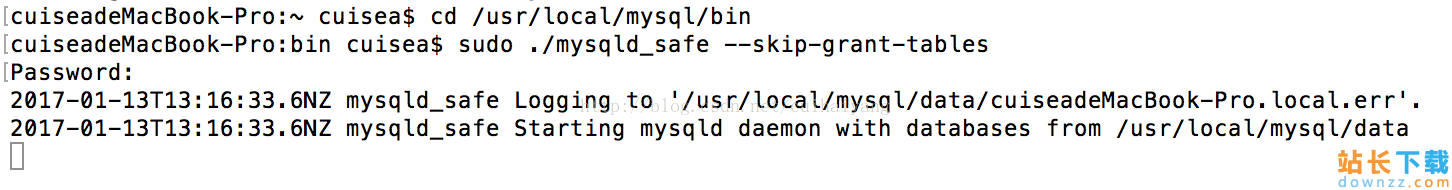 Mac下MySQL 5.7忘记root密码的解决办法