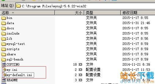 MySQL 绿色版(zip解压版)的<em style='color:red;'>安装</em>图文教程(mysql-5.6.22-win32.zip)