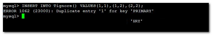 MySQL 处理插入过程中的主键唯一键重复值的解决办法