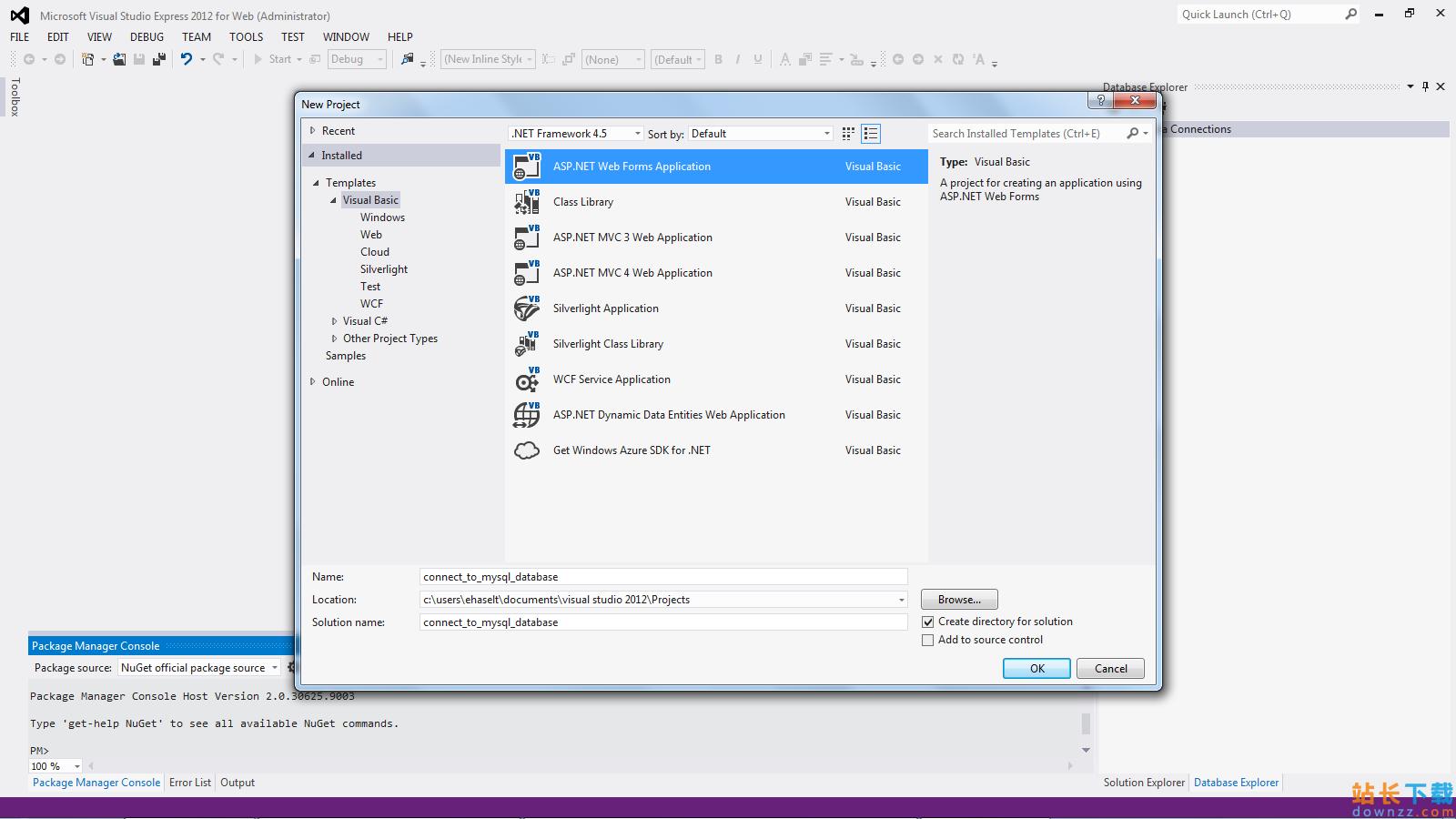 在VB.NET应用中使用MySQL 的办法