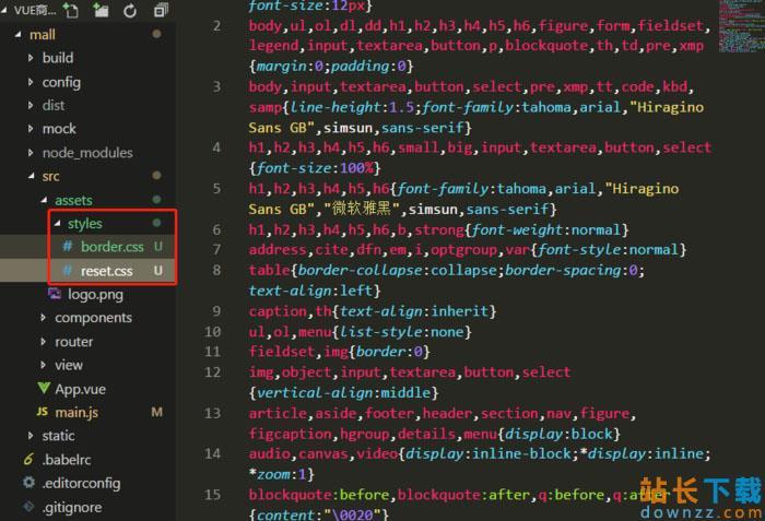 reset.css引入以及1px边框问题的解决办法