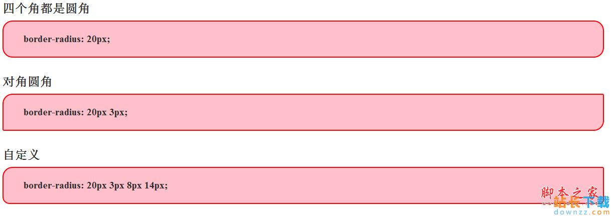 纯CSS3实现圆角效果(含IE兼容<em style='color:red;'>解决方法</em>)