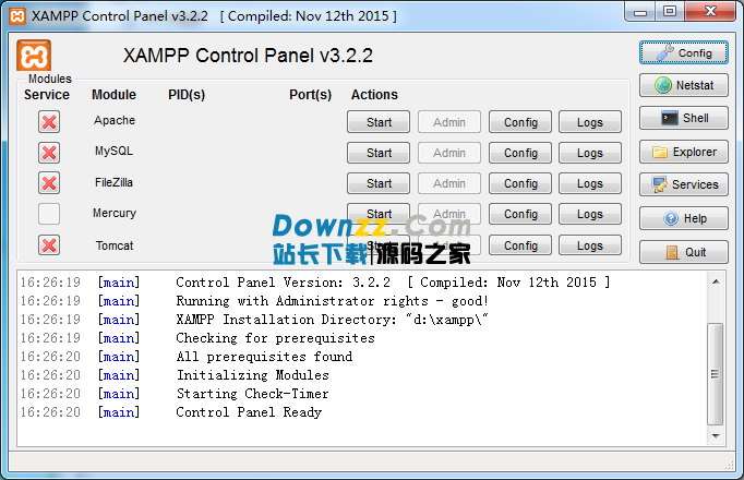 XAMPP 3.2.2.0建站集成软件官方中文版