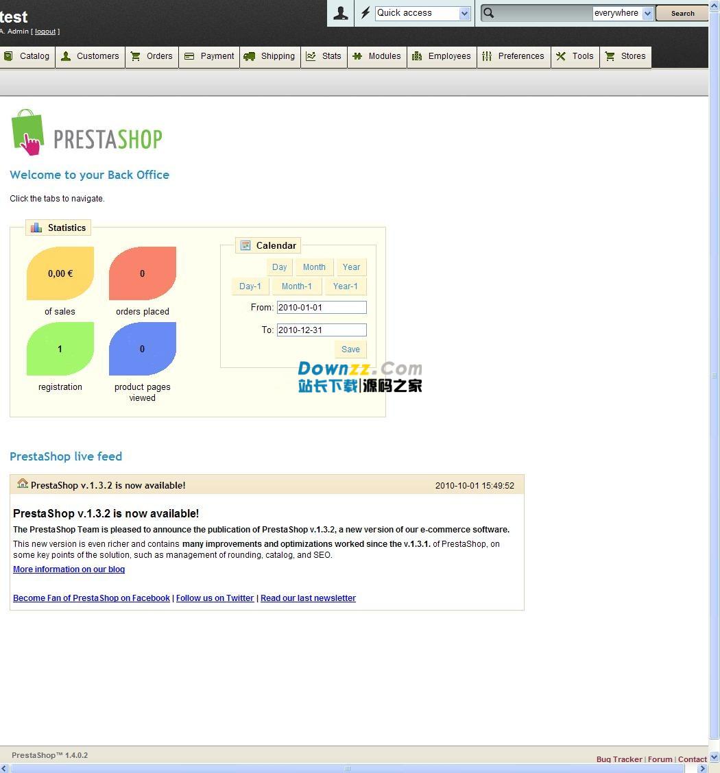PrestaShop 开源网店系统 v1.7.4.1