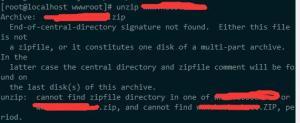 unzip命令不能使用并出现unzip:  cannot find zipfile等字样解决办法